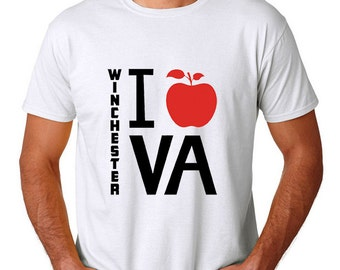 "Men's ""I Heart Winchester VA"" T-Shirt 