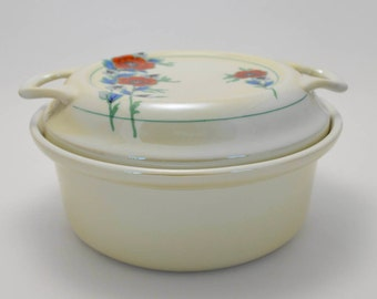 Fraunfelter China Royal Rochester Casserole Dish, Ohio China, Ceramic Cookware
