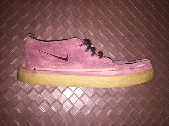 Vintage Maroon Suede Nike Shoes