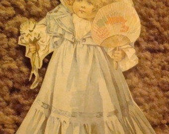 SALE Lovely Vintage Girl Paper Cut-Out # 1