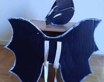 Mask and bat wings