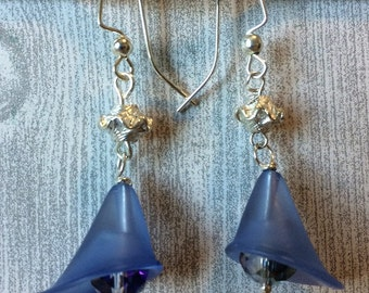 Blue Lily Earrings