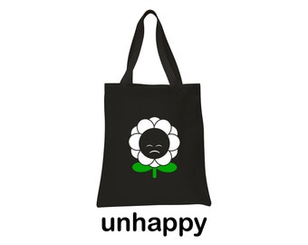 unhappy flower tote