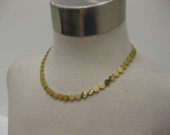 Elegant Vintage Gold-Tone Circle Choker Necklace
