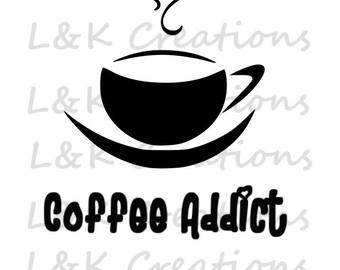 "Vector Image ""Coffee Addict"""
