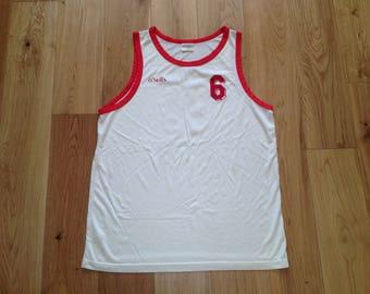 O'Neills Tank Top / Singlet Sleeveless made in Ireland - 90s Vintage Retro - Basketball
