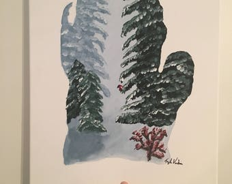 Michigan Winter Painting  Canvas(16x20)