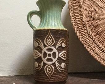 Bay Keramik handled pot West Germany Pattern 69-20 Vintage vase Mid century ceramics