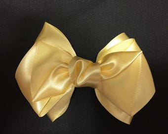 Yellow pretty Ribbon / hair bow