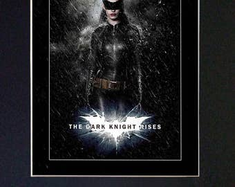 ANNE HATHAWAY The Dark Knight Rises Mounted Signed Photo Reproduction Autograph Print A4 105