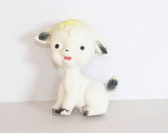 Squeaky sheep, squeaky, squeaky toy, sheep vintage toy, birth gift, vintage gift for babies