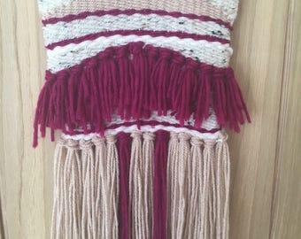 Medium Weaving Wall Hanging, Woven wall hanging, Handmade Weave, Yarn wall hanging, Housewarming gift, Weaving wall hanging,