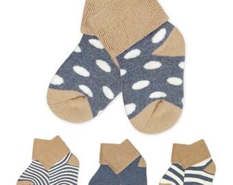 Soft Cotton Knit Baby Booties, Toddler Socks, Wholesale Bundle, Imprintable, 100 pcs+