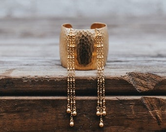 Ball & Chain Fringe Patterned Cuff