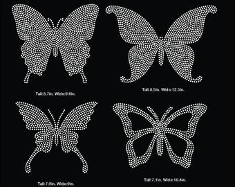 Butterfly rhinestone template digital download, svg, eps, studio3, png, dxf