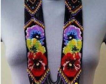 """Gerdane of beads """"A bouquet of flowers"""""""