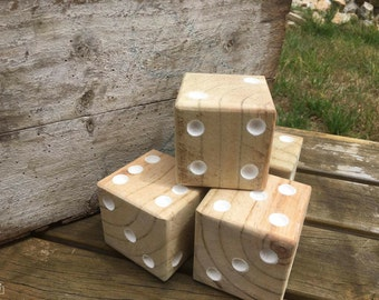Yard Dice from Recycled Timber