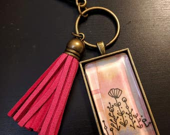CLEARANCE** Watercolor Keychain