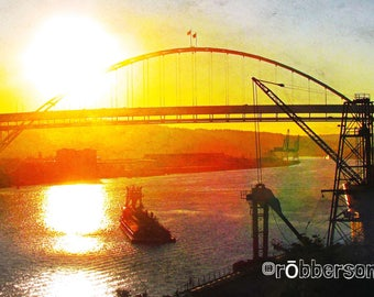 Fremont Bridge, Portland Bridges Art, Fine Art Photography