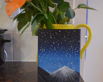 Night Sky Mountain Painting