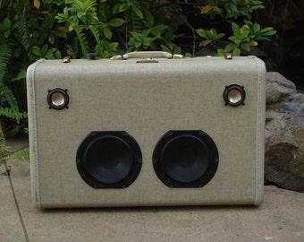 Vintage Bluetooth Suitcase Boombox