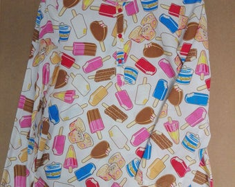 Hysteric Glamour Japan Ice Cream Printed Womens Blouse Top/used