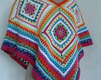 Summer poncho cape