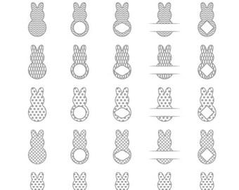 peep svg peep monogram frames svg peep bunny svg easter peep svg peeps cut files silhouette studio cricut svg dxf jpg png eps pdf ai cdr