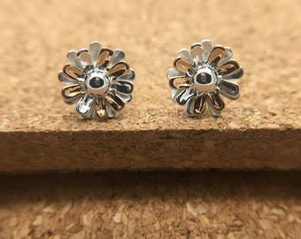 Sterling Silver Flower Earstuds, Nature Jewelry, Manufacture, Export, Wholesale