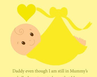 Daddy Bump Nuetral Fathers Day Card
