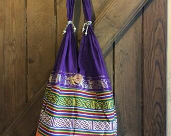 multicolour urban patterned shoulder bag
