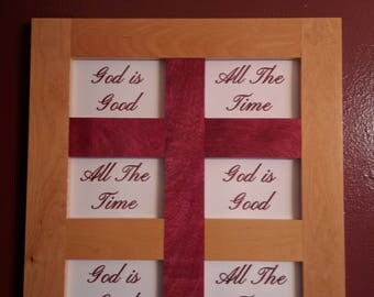 God Is Good All The Time Wall Hanging Cross Photo Frame
