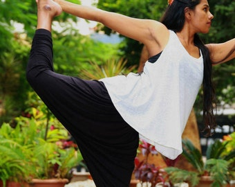 Yoga harem pants, lounge pants, active wear, eco friendly bamboo lycra fabric