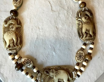 Tribal Elephant Necklace