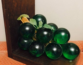 Lucite grape bookends