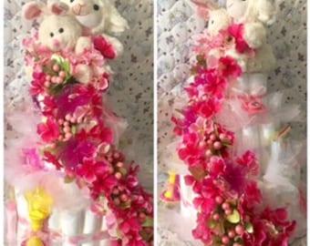 Large Girls Pink Lamb Cake