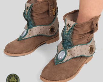 Flowing in the Wind Collection - Handmade Macrame Boots