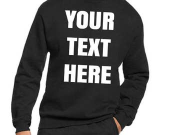 Custom Personalized crewneck sweatshirt, Sweater size S-3XL adult, youth- toddler all colours perfect gift for any events image and letters!