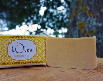 Organic wheat germ and shea butter SOAP 100 g