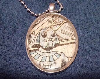 Robot pharaoh with lasers pendant