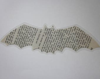 Laminated Bookmark Made From Recycled Dracula Book