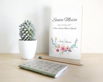 Mass marriage booklet combines with invitations. Floral style with green Mint notes.