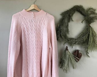 Pink sweater with Pearl Detail