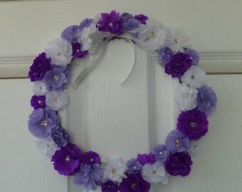 Tissue Flower Wreath