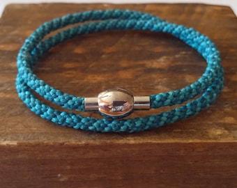 Kumihimo lockable steel magnet bracelet