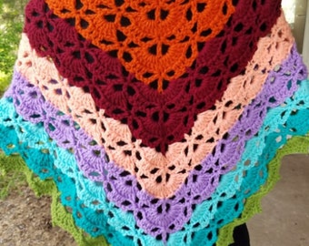 Colorful Shoulder Shawl