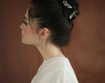 Set Gold Hair Pins , Wedding Hair  Pins ,  , Bridal Hair Accessories, Boho Hair pins, vintage  hair pieces,  delicate bridal headpieces