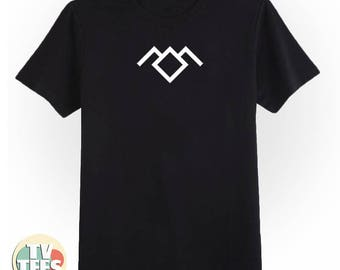 Owl Cave Twin Peaks Tee Shirt in Black and White