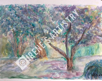 Watercolour Painting - Tranquill