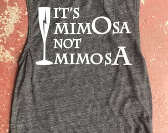 Harry Potter It's Mimosa Not Mimosa Muscle Tank Brunch Tank White